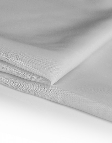 Voile Dekostoff grau 310cm breit | Trevira CS | 100% Polyester 45g/m² B1