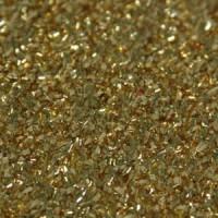 Las Vegas Dekostoff gold 110cm breit | 100% Polyester Effektstoff 100g/m² B1