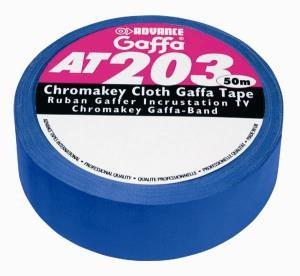Gaffa AT 203 Chromakey 50 mm breit, 25 lfm blaues Tape