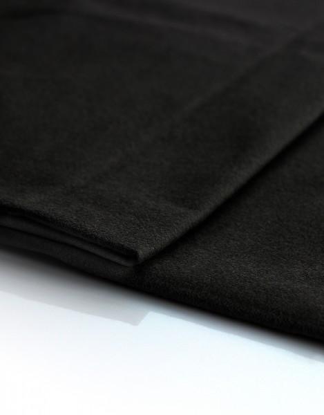 Satin Molton 300cm breit , schwarz