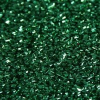 Las Vegas Dekostoff grün 110cm breit | 100% Polyester Effektstoff 100g/m² B1