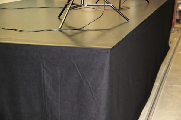 Podestverkleidung Bühnenmolton 340g mit Klettband - div. Höhen