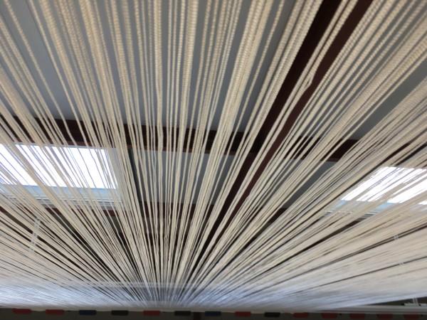 Fadenvorhang weiß 2,10 x 4 Meter - Messevorhang