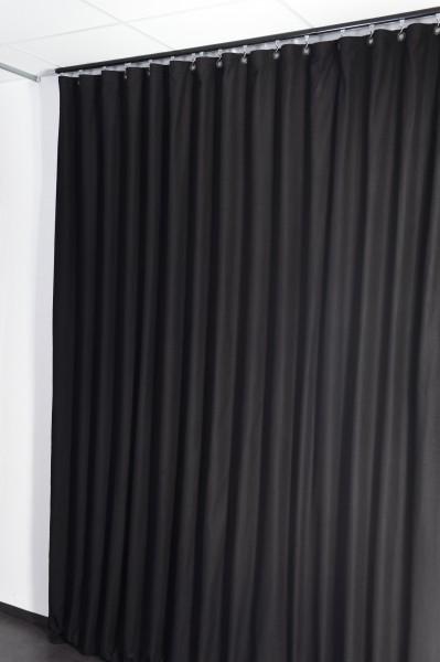 Akustikvorhang M600 g/m² B1 31% Dämpfung - Bühnenmolton 13 Farben mit Ösen