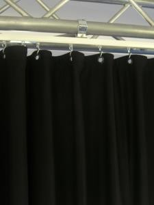 Backdrop 6m x 4m in schwarz, heavy 340g