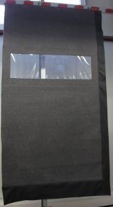 Windfang Vorhang mit Sichtfenster